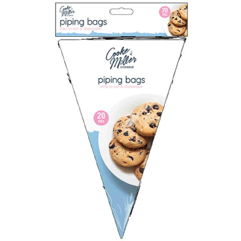 Pack 20 Clear Disposable Plastic Cake Icing Piping Bags